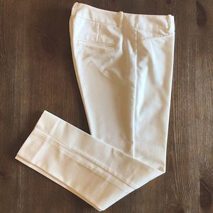 The Limited White Pencil Ankle Pants